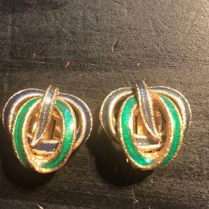 Vintage Ciner clip earrings snake look
